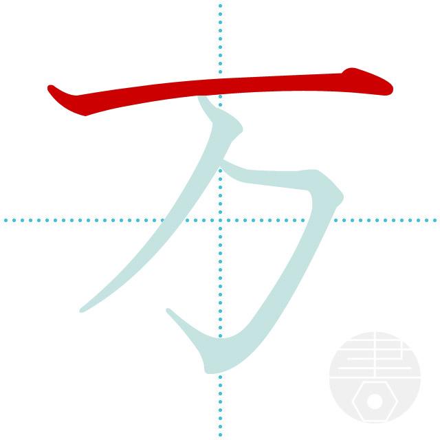 万」の書き順(画数)|正しい漢字の書き方【かくなび】