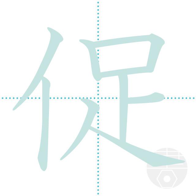 「促」正しい漢字の書き方・書き順・画数