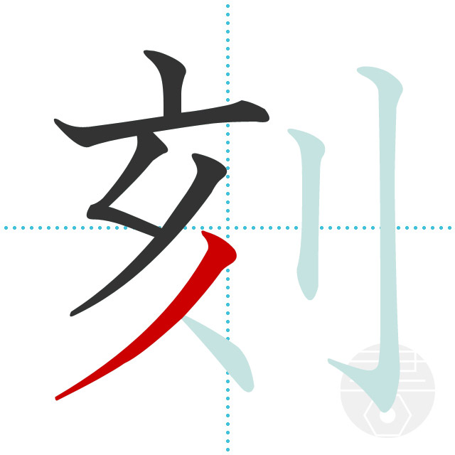刻」の書き順(画数) 正しい漢字の書き方【かくなび】
