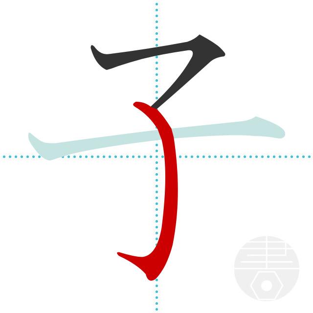 子」の書き順(画数)|正しい漢字...