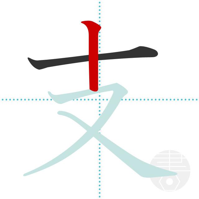 支」の書き順(画数)|正しい漢字の書き方【かくなび】