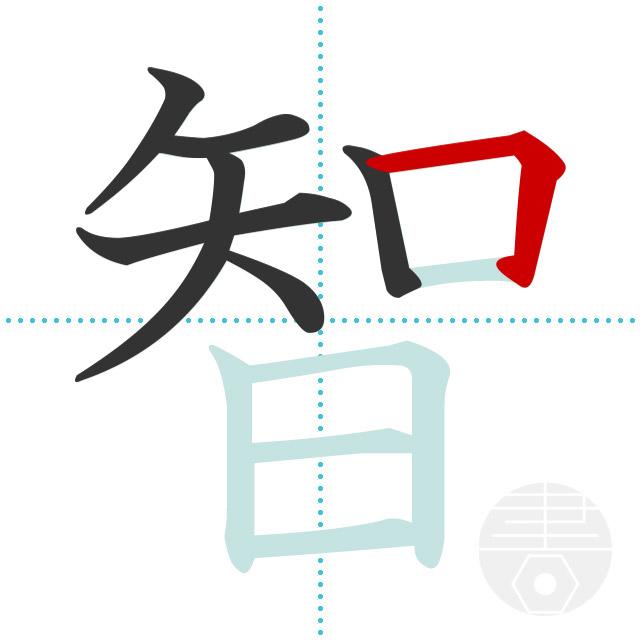 智」の書き順(画数)|正しい漢字...