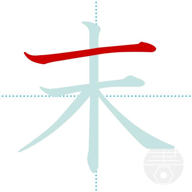 末」の書き順(画数) 正しい漢字の書き方【かくなび】