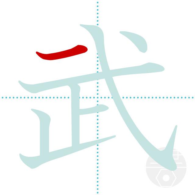 武」の書き順(画数)|正しい漢字...