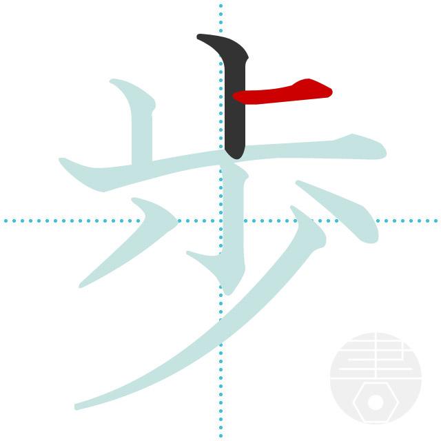 歩」の書き順(画数) 正しい漢字...