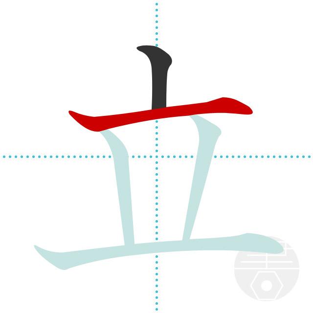 立」の書き順(画数)|正しい漢字の書き方【かくなび】